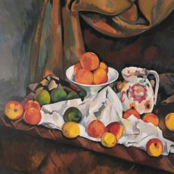 Compotier pichet et fruits