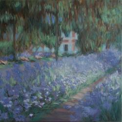 Le jardin de l'artiste, les iris